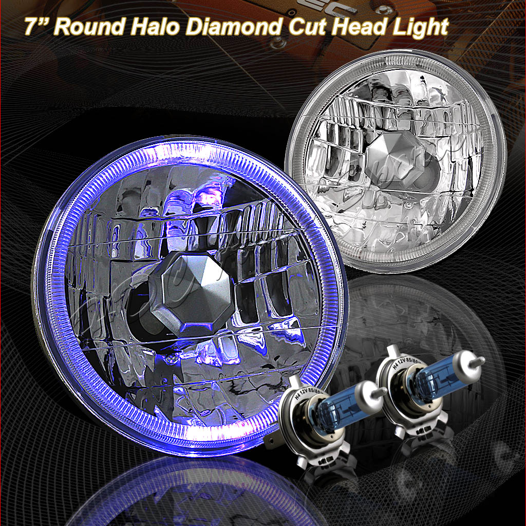 79-87 Toyota Land Cruiser Chrome LED Halo Projector Headlights