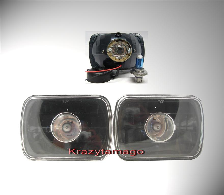 "82-95 Toyota Pickup Black 4""x6"" Projector Headlights"