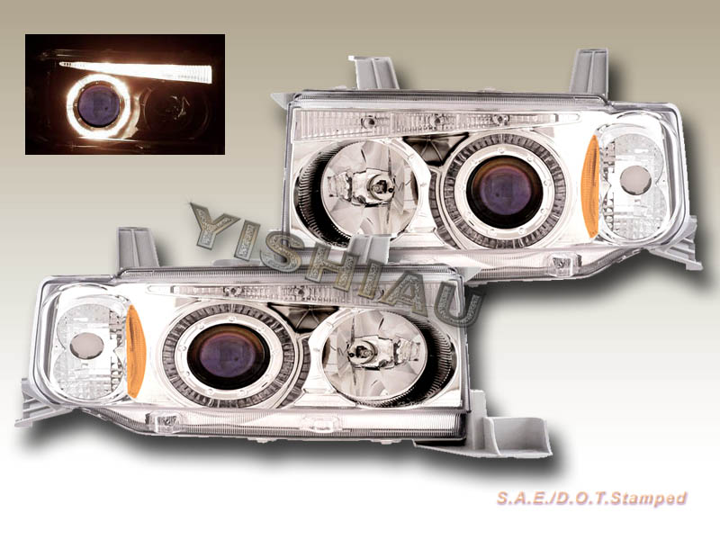 03-06 Scion xB Chrome LED Halo Projector Headlights