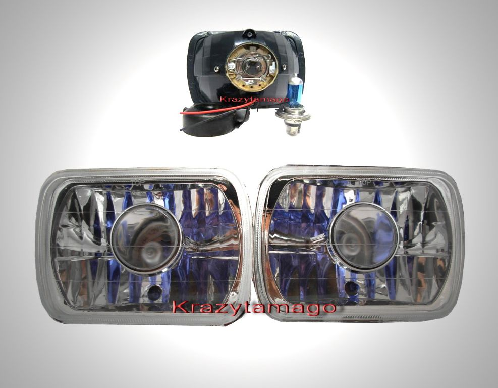 "91-93 Mitsubishi Eclipse Chrome 4""x6"" Projector Headlights"