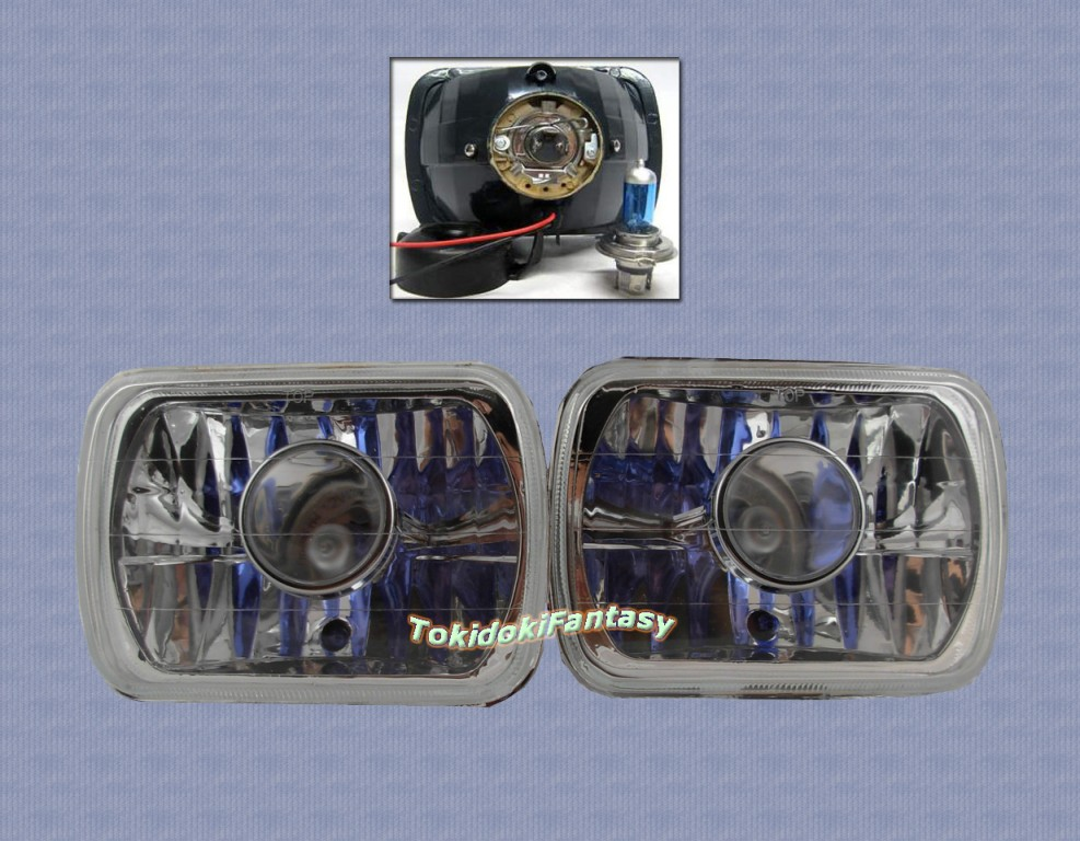 "82-95 Toyota Tacoma Chrome 4""x6"" Projector Headlights"