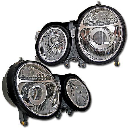 00-02 Mercedes E-Class Chrome Projector Headlights