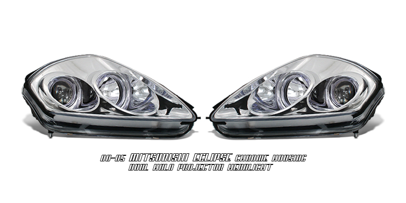 00-05 Mitsubishi Eclipse Chrome Halo Projector Headlights