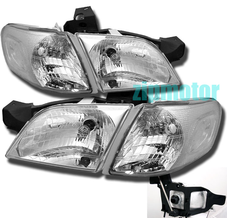 99-05 Pontiac Montana Chrome Euro Crystal Headlights
