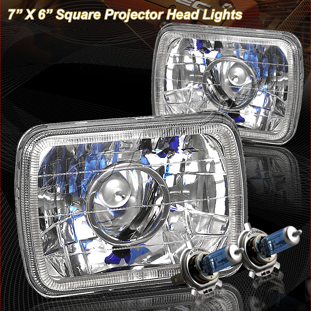"82-90 Pontiac Firebird 7""x6"" Chrome Projector Headlights"
