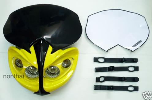 Suzuki SV Yellow Stunt Motorcycle Headlight