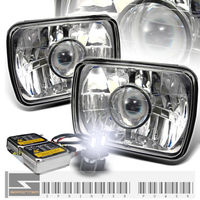 "95-96 Toyota Tacoma 7""x6"" Chrome Projector Headlights w/HID Kit"